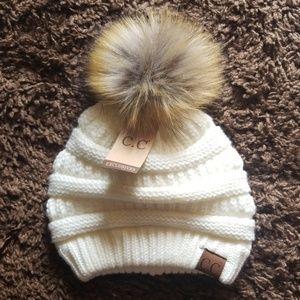 CC Pom Beanie Hat.  NEW With Tags.